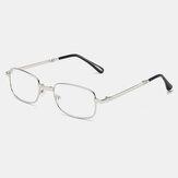 Unisex Portable Folding Anti-Blue Glasses Classic Metal Full Frame Anti-UV Reading Glasses Presbyopic Glasses
