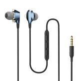 BlitzWolf® AIRAUX AA-HE2 Dual Dynamic Drivers Magnetischer Kopfhörer 3,5-mm-Ohrhörer mit Kabelsteuerung Stereo-Bass im Ohr-Headset mit Mikrofon