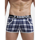 Mens Cotton Loose Breathable Boxer Knitted Beach Sleepwear P