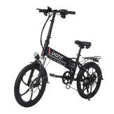 LAOTIE PX5 48V 10.4Ah 350W 20 pollici bicicletta elettrica pieghevole per ciclomotore 35 km / h Velocità massima 80 km Chilometraggio E-Bike EU Plug