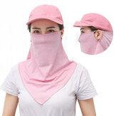 Unisex Summer Ice Silk Bufanda facial transpirable Protector facial al aire libre Cubierta de protección solar a prueba de polvo Mascara Cuello Polaina para pesca Motociclismo Running