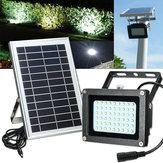 Solar Powered 54 LED imperméable à l'eau Panneau de sécurité extérieure Flood Light Billboard Garden Lamp