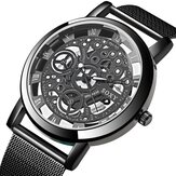 SOXY Fashion Kreatif Berongga Dial Stainless Steel Strap Men Quartz Perhiasan