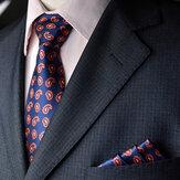 Garnitur męski i kieszonkowy ręcznikowy biznes formalne żakardowe krawaty