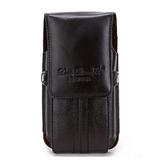 男性 レザー 携帯電話ポーチ カジュアル 超薄型 垂直 電話ケースホルダー