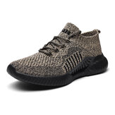 Men Knitted Fabric Breathable Cushioning Lightweight Sports Sneakers