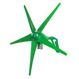 12V / 24V 5ブレード1800Wピークグリーン水平電力風力タービン発電機、充電コントローラー付き