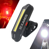 XANES 2 in 1 500LM Fiets USB Oplaadbare LED Fiets Voorlicht Achterlicht Ultralight Warning Night Light
