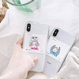 Fashion Ins Cartoon Inbetweening Pattern Transparent Antichoc TPU Housse de protection pour iPhone X/XS / XR / XS Max / 6/7/8 / 6S Plus/6 Plus / 7 Plus/8 8 Plus