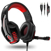 Hunterspider V-6 Gaming Headset Computer Headphone LED Luminous Headset Surround Sound Bass RGB Game With Microphone