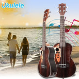 21 Inch Four Strings Rosewood Ukulele Guitar With Grape Shape Holes