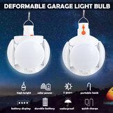 Ampoule déformable solaire extérieure LED ampoule pliante de travail de plafond lampe de football UFO