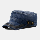 Men Denim Embroidery Outdoor Casual Breathable Military Hat Peaked Hat Flat Hat