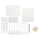 127PCS Silikon Anhänger Form Schmuck Schmuck Halskette DIY Form Set Craft Easy