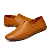 Large Size Men Soft Sole Genuine Leather Flats Loafers