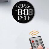 12 İnç LED Duvar Saat Aydınlık Büyük Saat Sessiz Dijital Sıcaklık ve Nem Elektronik Saat Modern Tasarım Oturma Odası Dekorasyonu