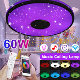 60W LED Ceiling Light RGB Flash Music bluetooth Dimmable Lamp Bedroom Living Room