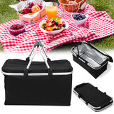 Xmund XD-LG1 30L Folding Picnic Storage Baskets Insulated Storage Cooler Hamper Waterproof Camping Travel Lunch Bag