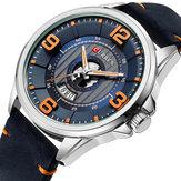 CURREN83053Dナンバーデザイン日付表示メンズ腕時計