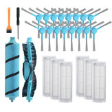 26pcs Replacements Parts for Xiaomi Mijia STYJ02YM Viomi V2 V2 Pro Conga 3090 4090 Vacuum Cleaner Side Brushes*12 HEPA Filters*6 Flannel Brush*1 Nylon Main Brush*1 Cleaning Brush*1 Screwdriver*1 Non-original
