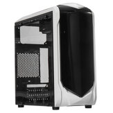 Computadora de escritorio negra Caso Interfaz doble USB 3.0 / 2.0 Panel lateral transparente ATX Host Game PC Tower Caso
