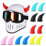 2PCS MTB Bicycle Motorcycle Helmet Horn Shape Sticker Sucker Motocross Off Road Helmet Decor Party Cosplay Props Helmet Not Included