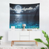 Sea Moon Tapestry Home Living Room Wall Hanging Backdrop Decor Tapestry Cloth Art Wall Blanket Beach Bedroom Decoration