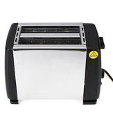 Multifunctional Automatic Breakfast Machine 750W 220V Stainless Steel Toaster Extra Wide Slots for Household