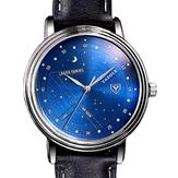 YAZOLE366ModaHombresRelojDe Cuarzo Estrellas Casual Patrón Dial Reloj De Pulsera