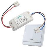 Bộ chuyển đổi ánh sáng không dây KTNNKG + Bộ điều khiển từ xa không dây phổ biến KTNNKG 433 MHz 86 Bảng điều khiển RF với 1 nút