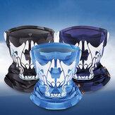 WEST BIKING Ice Silk UV400 Proteção solar Riding Face Máscara Lenço respirável Ice Silk com forte elasticidade reflexiva à noite
