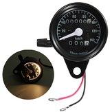 Motorcycle Dual Odometer Speedometer Mechanical Gauge Black Universal Waterproof