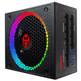 PC Power Supply 750W 100-240V ATX RGB Fully Modular 14cm Smart Temperature Control Fan 80 Plus Gold Gaming Computer PC Power Supply