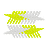 10 Pairs KINGKONG/LDARC 2535 63.5mm PC 4-blade Propeller CW CCW 1.5mm Mounting hole for RC Drone