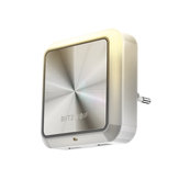 BlitzWolf® BW-LT14 Plug-in Smart Light Sensor LED Night Light z podwójnym gniazdem USB do ładowania
