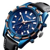 SKMEI9189sportluxelederenband heren quartz horloge