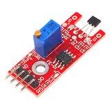 5 sztuk KY-024 4pinowe liniowe przełączniki magnetyczne Moduł zliczania prędkości Hall Hall Sensor Geekcreit dla Arduino - produkty współpracujące z oficjalnymi tablicami Arduino