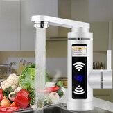 3000W Torneira Elétrica Aquecedor Água Aquecimento Instantâneo Casa Banheiro Torneira Misturadora Quente e Fria de Cozinha LED Visor Plug UE