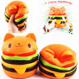 Sanqi Elan Squishy Cat Burger 11 * 10cm långsammare Soft Animal Collection Gift Decor Leksak Original Packaging