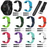 Bakeey 22mm szybkozłączka teksturowany silikonowy pasek zamienny do zegarka Garmin Forerunner 945/Fenix 5