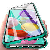 Bakeey 360º Curved Magnetic Flip Double-sided 9H Tempered Glass Metal Full Body Protective Case for Samsung Galaxy A51 2019