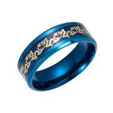 中国の龍のパターンのチタン鋼の指リング