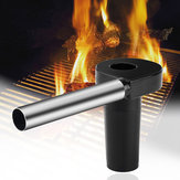 Portable Electric BBQ Fan Air Blower Charcoal Burn Picnic Lighters Utensil Cooking Stove Fire Tool