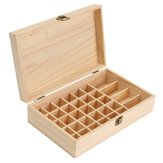 34 Grids Wooden Bottles Box Container Organizer Storage for Essential Oil Aromatherapy
