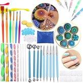 36 stk DIY Mandala Dotting Værktøjer Klistermaleri Kits Dot Art Pen Paint Stencil