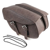 2Pcs Universal Motorcycle Saddlebags Tool Side Saddle Bags Waterproof PU Leather