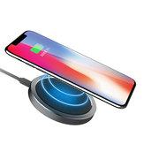 ROCK W4 2A Qi Kablosuz Hızlı Şarj Disk Şarj Aleti iphone X 8 / 8Plus için Samsung S8 S7 iWatch 3
