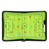 Portable Leather Magnetic Foldable Football Tactical Board Training Coaching Kit
