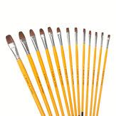 Pólo amarelo Guache Pintura Escova Conjunto Arte Pintura Em Aquarela Escovas Conjunto Caneta Pintura Acrílica Estudante Terno de Arte