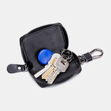 Men Genuine Leather Retro Mini Key Case Bag Large Capcity Fashion Car Key Keychain Wallet